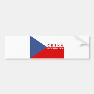 Autocollant De Voiture nom des textes de ceska de pays de drapeau de
