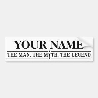 Autocollant De Voiture Nom personnalisé l'homme le mythe la légende