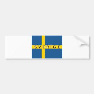 Autocollant De Voiture nom suédois des textes de pays de drapeau de