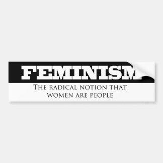 Autocollant De Voiture Notion radicale du Féminisme-Le que les femmes
