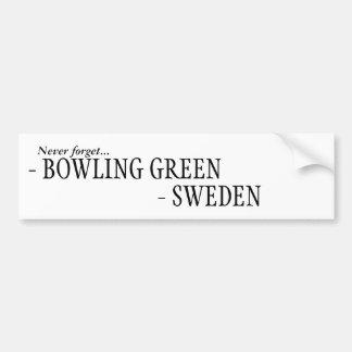 Autocollant De Voiture N'oubliez jamais la Suède, Bowling Green