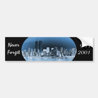 Autocollant De Voiture N'oubliez jamais le 11 septembre