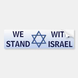 Autocollant De Voiture Nous nous tenons avec l'Israël