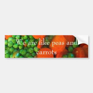 Autocollant De Voiture Nous sommes comme des pois et des carottes