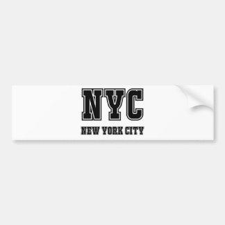 Autocollant De Voiture NYC New York City