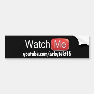 Autocollant De Voiture Observez-moi sur YouTube (de base)
