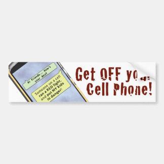 Autocollant De Voiture Obtenez outre de votre téléphone portable