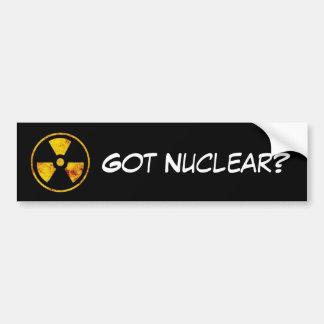 Autocollant De Voiture Obtenu nucléaire