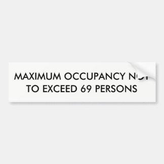Autocollant De Voiture Occupation maximum