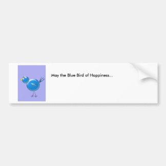 Autocollant De Voiture Oiseau bleu de bonheur…