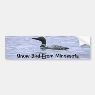 Autocollant De Voiture Oiseau de neige d'adhésif pour pare-chocs du