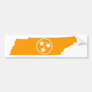 Autocollant De Voiture Orange d'état du Tennessee