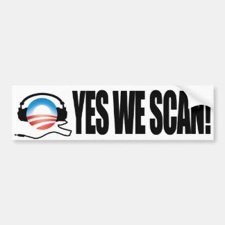 Autocollant De Voiture Oui nous balayons - l'anti NSA d'Obama Snooping
