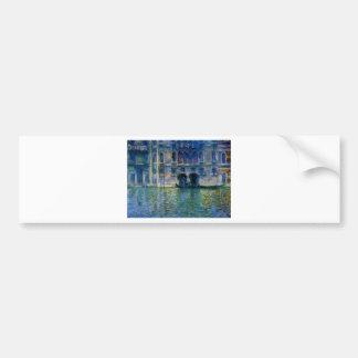Autocollant De Voiture Palazzo DA Mula à Venise par Claude Monet