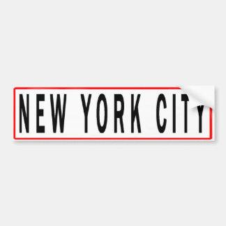 AUTOCOLLANT DE VOITURE PANNEAUX NEW YORK CITY