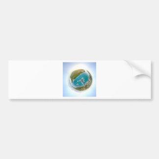 Autocollant De Voiture Panorama minuscule de planète de Turcs et de la