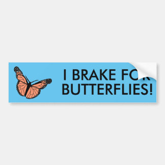 Autocollant De Voiture Papillon bumpersticker.