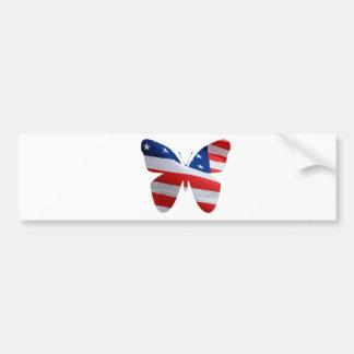 Autocollant De Voiture papillon de drapeau