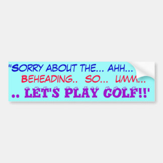 Autocollant De Voiture Partons jouer au golf
