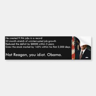 Autocollant De Voiture Pas Reagan, adhésif pour pare-chocs d'Obama