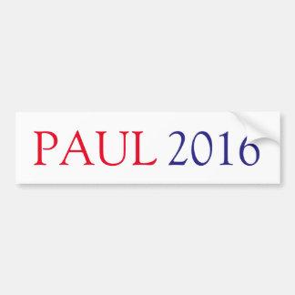 AUTOCOLLANT DE VOITURE PAUL 2016