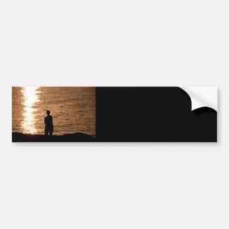 Autocollant De Voiture Pêche au coucher du soleil