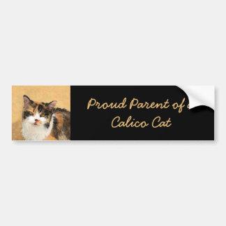 Autocollant De Voiture Peinture de chat de calicot - art original mignon