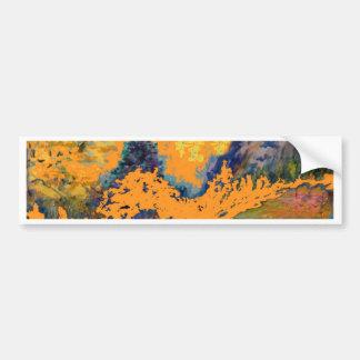 Autocollant De Voiture Peinture de paysage occidentale de trembles de