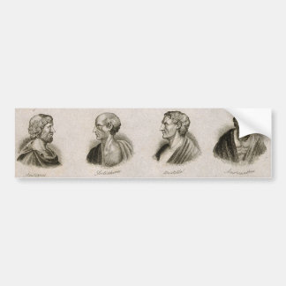 Autocollant De Voiture Penseurs antiques de portrait de philosophes