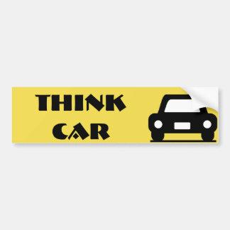 Autocollant De Voiture Pensez l'autocollant génial de voiture