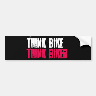 Autocollant De Voiture Pensez le vélo empilé