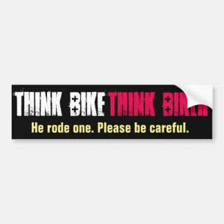 Autocollant De Voiture Pensez le vélo qu'il est monté