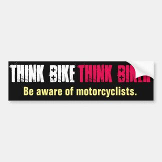 Autocollant De Voiture Pensez que le vélo soit direct averti