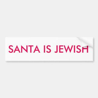 """Autocollant De Voiture """"Père Noël est"""" adhésif pour pare-chocs juif"""