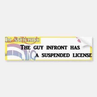 Autocollant De Voiture permis suspendu