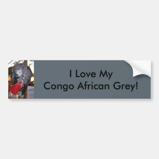 Autocollant De Voiture Perroquet flexible de gris africain du Congo avec
