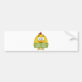 Autocollant De Voiture personnage de dessin animé jaune mignon de poussin