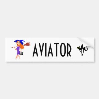 Autocollant De Voiture Personnalisable drôle d'aviateur