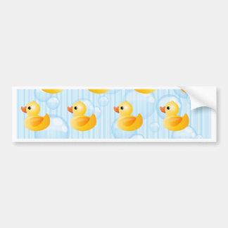 Autocollant De Voiture Petits canards jaunes
