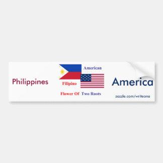Autocollant De Voiture Philippin-Américain