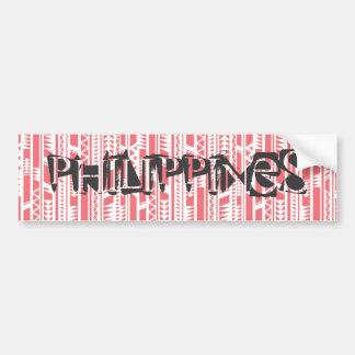 Autocollant De Voiture Philippines sur l'origine ethnique