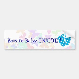 Autocollant De Voiture Pieds personnalisables de bébé avec le papillon