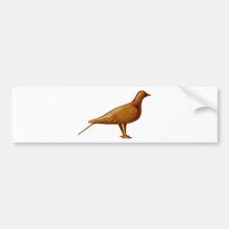 Autocollant De Voiture Pigeon en bois