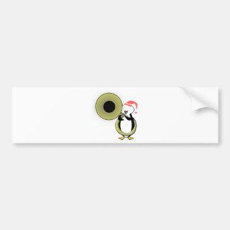 Autocollant De Voiture Pingouin de bébé avec le tuba