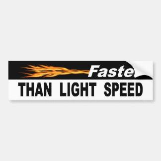 Autocollant De Voiture Plus rapidement que la vitesse de la lumière