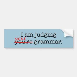 Autocollant De Voiture Police humoristique de grammaire