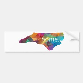 Autocollant De Voiture Poly À LA MAISON de la Caroline du Nord bas