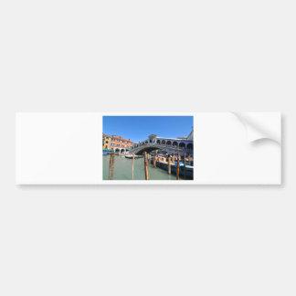 Autocollant De Voiture Pont de Rialto à Venise, Italie