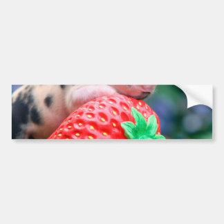 Autocollant De Voiture porc de fraise