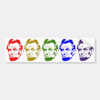 Autocollant De Voiture Portrait multicolore de style d'art de bruit